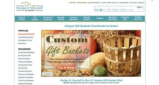 design it yourself gift baskets affiliate program
