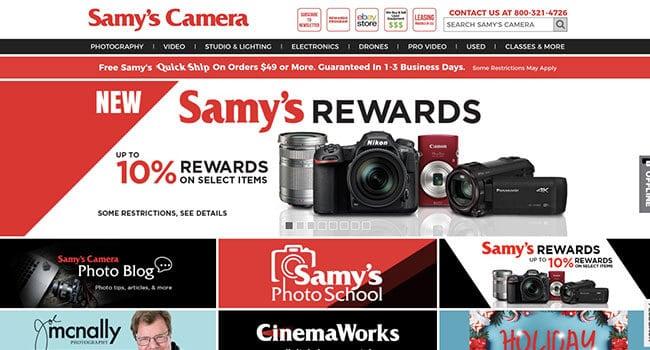samys camera affiliate program