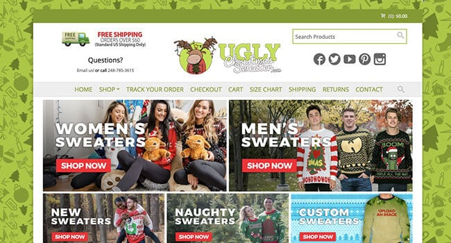 ugly Christmas sweaters affiliate program