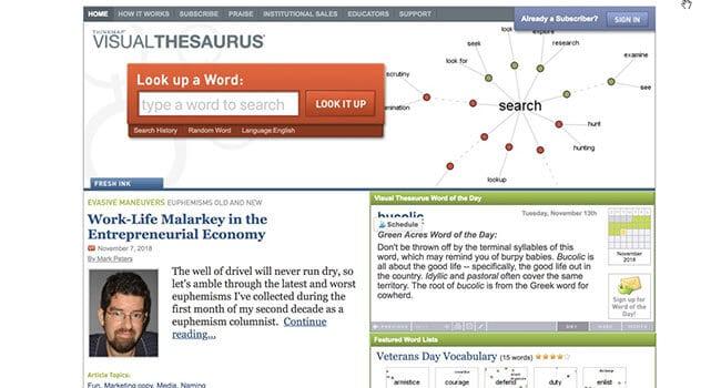 visual thesaurus