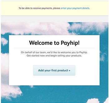add your first product to payhip