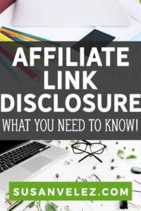 Today, we're going to be talking about the importance of an affiliate link disclosure. Before you can legally promote affiliate links, you need to disclosure your links to your website visitors.