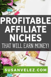 Are you considering starting an affiliate website and want to find a profitable niche? 6 affiliate marketing niches and profitable products