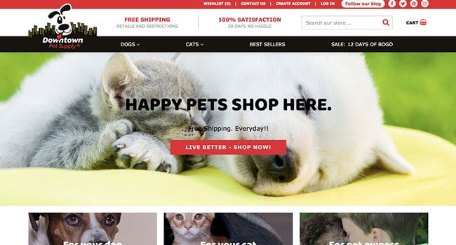 downtown pet supply affiliate program