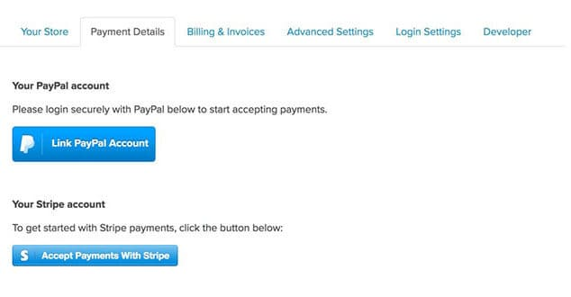 linking payment accounts on payhip