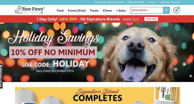 raw paws pet food affiliate program