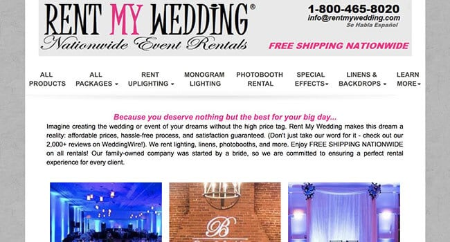 rent my wedding affiliate program