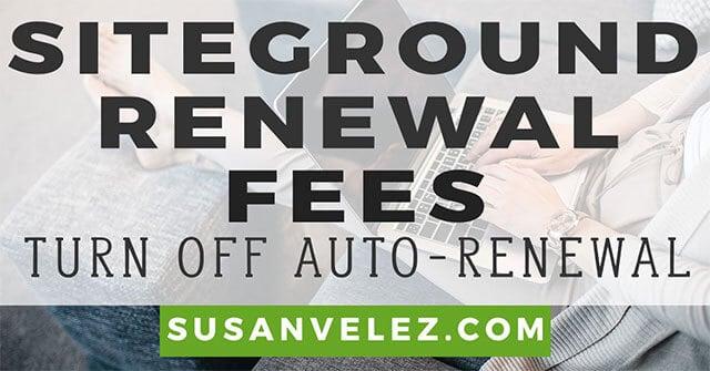 siteground renewal price