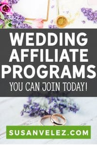 wedding affiliate programs pin