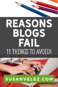 More and more people are starting blogs with the sole intention of earning money. As the new year approaches, more people will be starting a new blog as a side hustle. Today, we are going to take a look at 11 reasons why blogs fail and what you can do to succeed online.