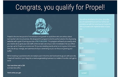 congrats you qualify for propel
