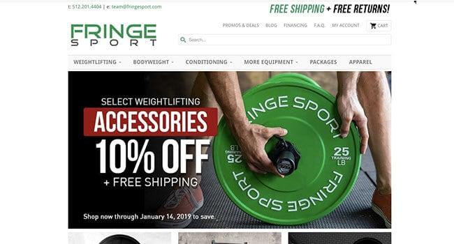 fringe sport fitness equipment affiliate program