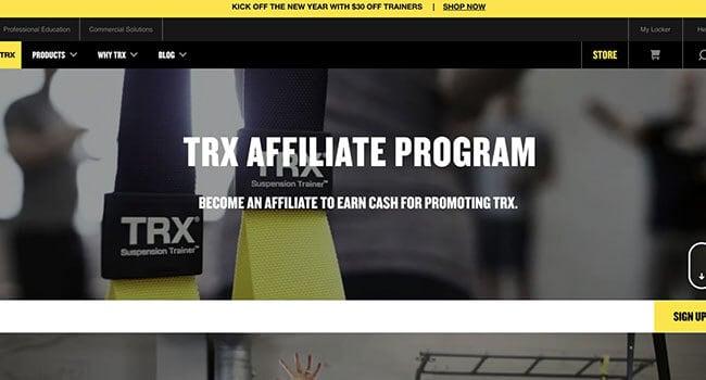 trx training affiliate program