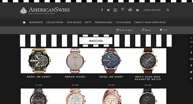 american swiss watches