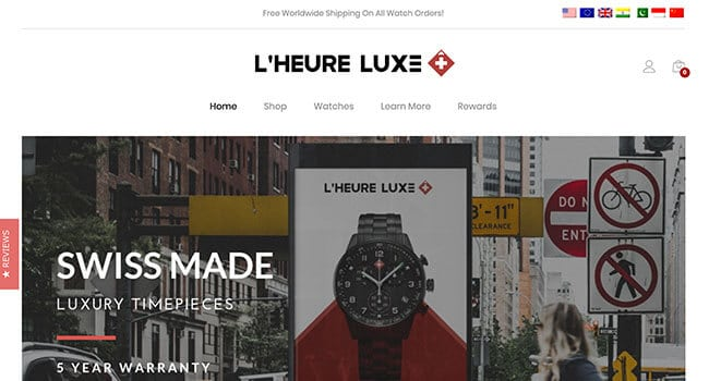 luxe watch jewelry affiliate program