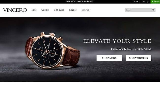 vincero luxury watches