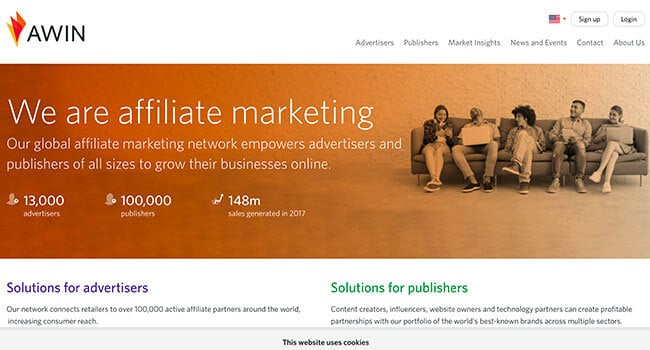 AWIN affiliate network