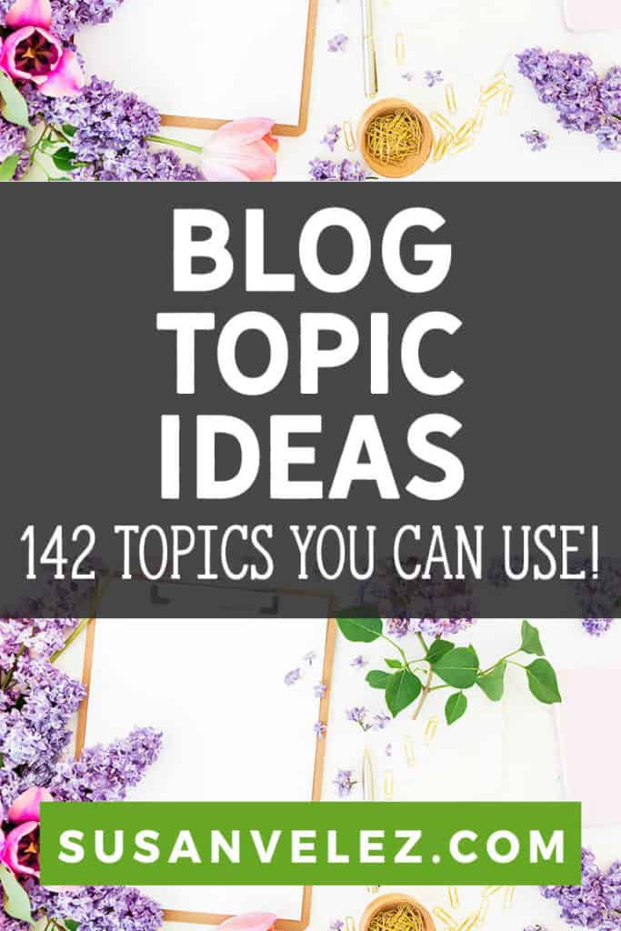 Are you struggling with interesting blog topics? We've all been there, some of us more than others. It's tough when you want to start creating an online empire and have no clue what you want to write about.